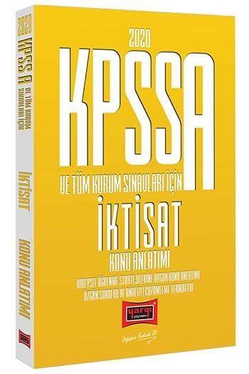 Yargı Yayınları 2020 KPSS A Grubu ve Tüm Kurum Sınavları İçin İktisat Konu Anlatımı