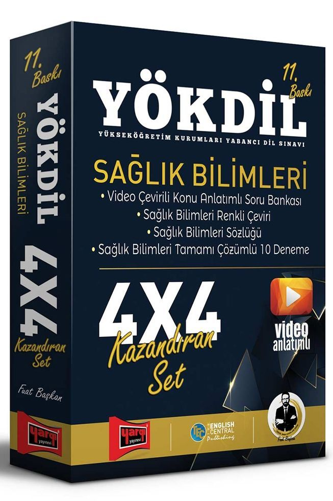 Yargı Yayınları YÖKDİL Sağlık Bilimleri 4x4 Kazandıran Set 11. Baskı