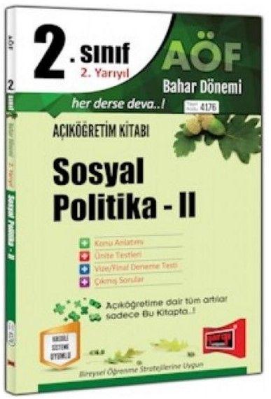 Yargı Yayınları 2. Sınıf 4. Yarıyıl Sosyal Politika 2 4176