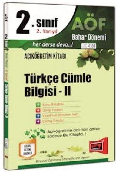 Yargı Yayınları 2. Sınıf 4. Yarıyıl Türkçe Cümle Bilgisi 2 4188