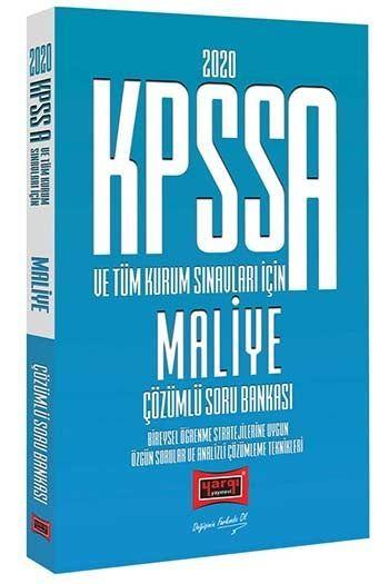 Yargı Yayınları 2020 KPSS A Grubu ve Tüm Kurum Sınavları İçin Maliye Çözümlü Soru Bankası