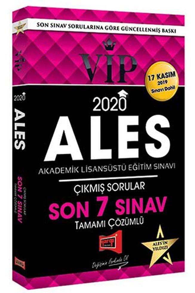 Yargı Yayınları 2020 ALES VIP Tamamı Çözümlü Son 7 Sınav Çıkmış Sorular 17 Kasım Dahil