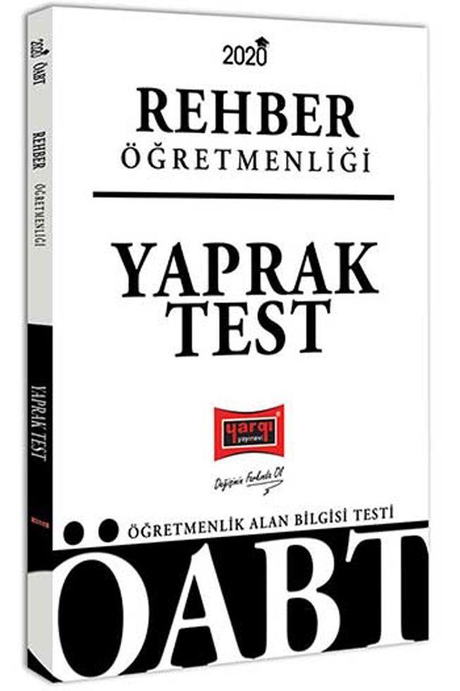 Yargı Yayınları 2020 ÖABT Rehber Öğretmenliği Yaprak Test