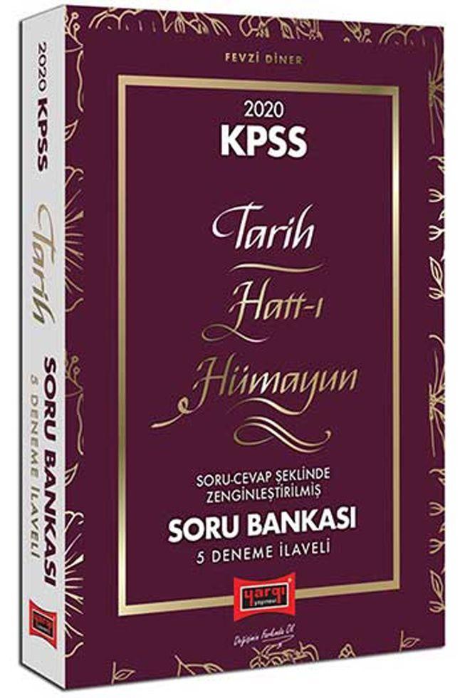 Yargı Yayınları 2020 KPSS Tarih Hattı Hümayun Çözümlü Soru Bankası 5 Deneme İlaveli