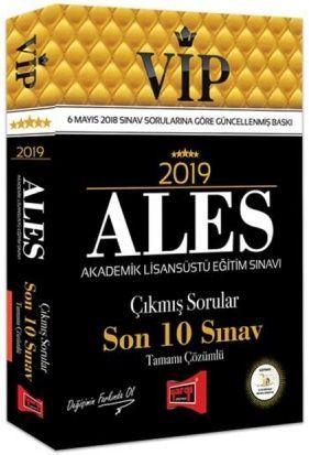 Yargı Yayınları 2019 ALES VİP Tamamı Çözümlü Son 10 Sınav Çıkmış Sorular
