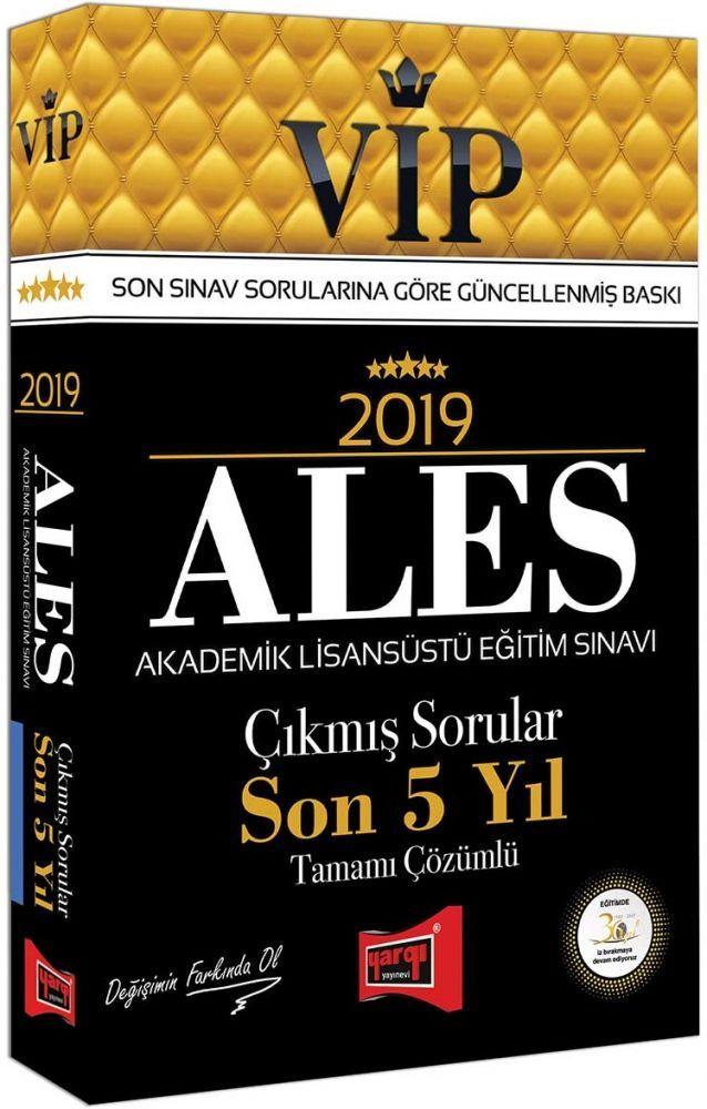 Yargı Yayınları 2019 ALES VİP Tamamı Çözümlü Son 5 Yıl Çıkmış Sorular