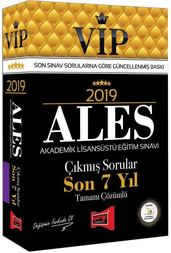 Yargı Yayınları 2019 ALES VİP Tamamı Çözümlü Son 7 Yıl Çıkmış Sorular