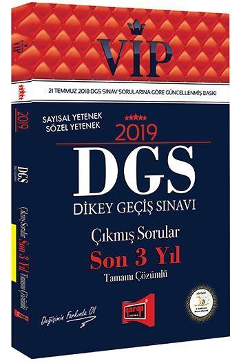 Yargı Yayınları 2019 DGS VIP Sayısal - Sözel Yetenek Son 3 Yıl Tamamı Çözümlü Çıkmış Sorular