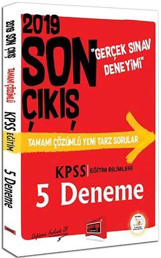 Yargı Yayınları 2019 KPSS Eğitim Bilimleri Son Çıkış Tamamı Çözümlü 5 Deneme