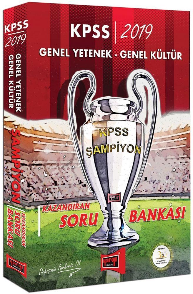 Yargı Yayınları 2019 KPSS Genel Yetenek Genel Kültür Şampiyon Kazandıran Soru Bankası