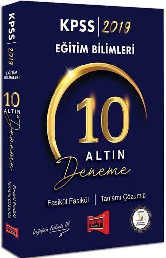 Yargı Yayınları 2019 KPSS Eğitim Bilimleri Fasikül Fasikül Tamamı Çözümlü 10 Altın Deneme
