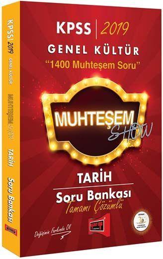 Yargı Yayınları 2019 KPSS Muhteşem Show Tarih Tamamı Çözümlü Soru Bankası