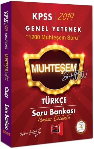 Yargı Yayınları 2019 KPSS Muhteşem Show Türkçe Tamamı Çözümlü Soru Bankası