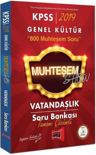 Yargı Yayınları 2019 KPSS Muhteşem Show Vatandaşlık Tamamı Çözümlü Soru Bankası