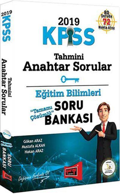 Yargı Yayınları 2019 KPSS Eğitim Bilimleri Tahmini Anahtar Sorular Tamamı Çözümlü Soru Bankası