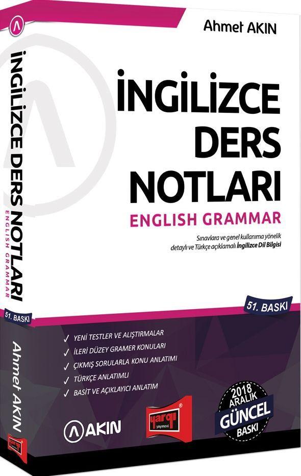 Yargı Yayınları İngilizce Ders Notları English Grammar 51. Baskı