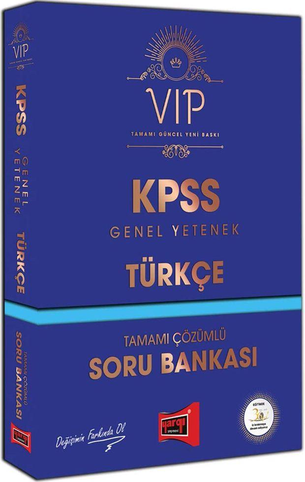 Yargı Yayınları KPSS Genel Yetenek Türkçe VIP Tamamı Çözümlü Soru Bankası