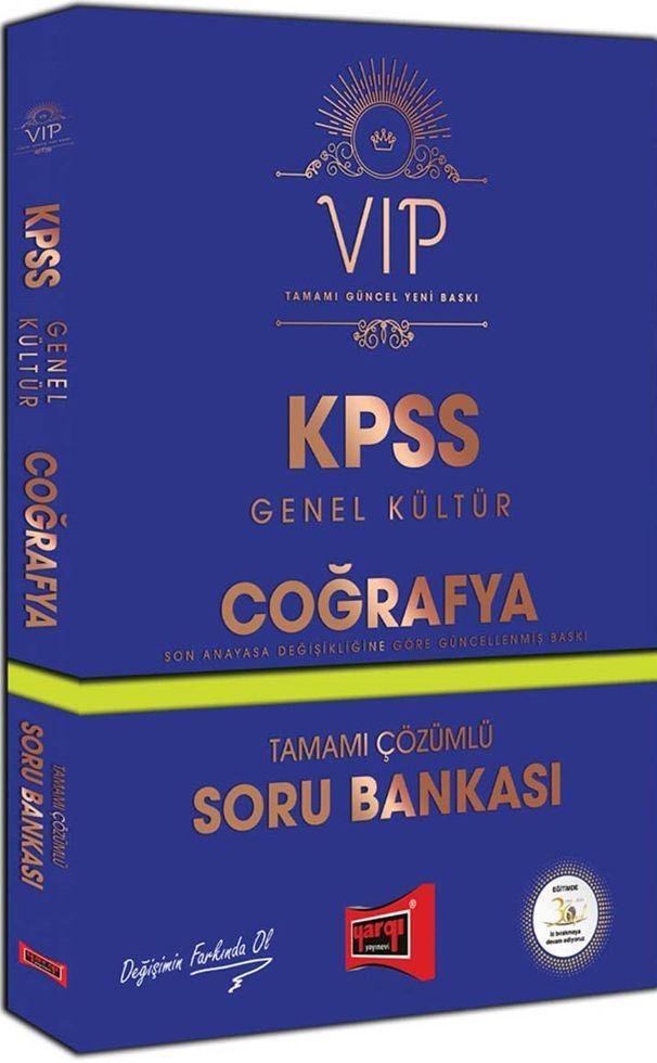 Yargı Yayınları KPSS Genel Kültür Coğrafya VIP Tamamı Çözümlü Soru Bankası