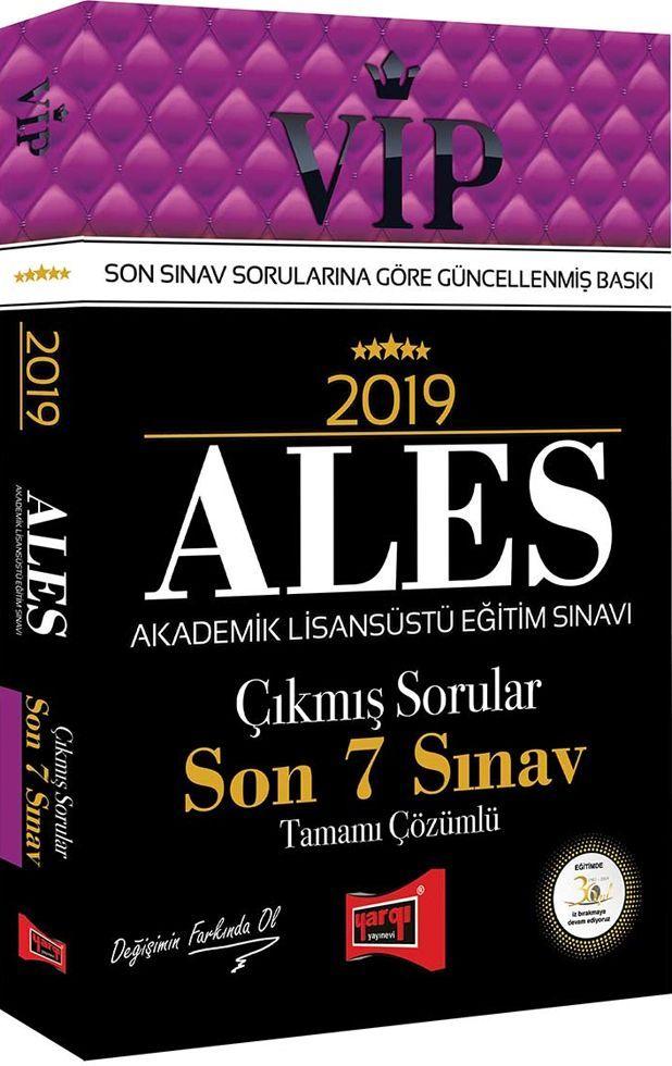 Yargı Yayınları 2019 ALES VİP Tamamı Çözümlü Son 7 Sınav Çıkmış Sorular