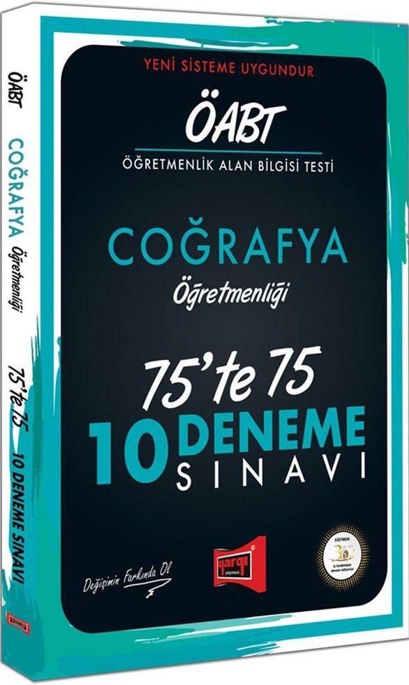 Yargı Yayınları ÖABT Coğrafya Öğretmenliği 75te 75 10 Deneme Sınavı