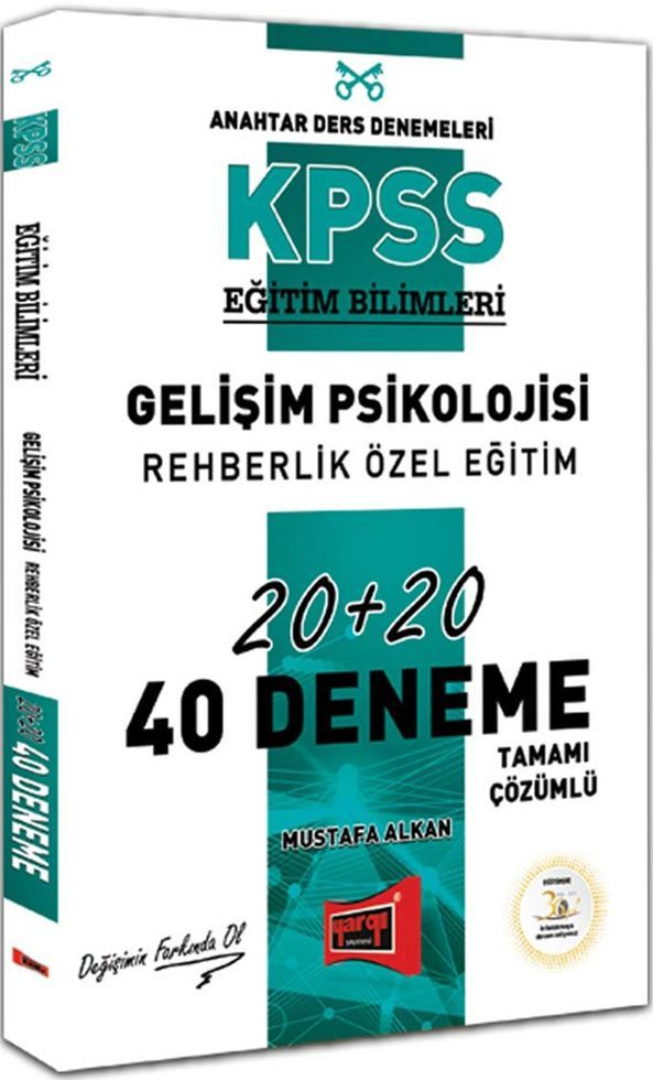 Yargı Yayınları KPSS Eğitim Bilimleri Gelişim Psikolojisi Rehberlik Özel Eğitim Tamamı Çözümlü 40 Deneme