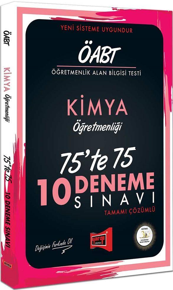 Yargı Yayınları ÖABT Kimya Öğretmenliği 75te 75 10 Deneme Sınavı