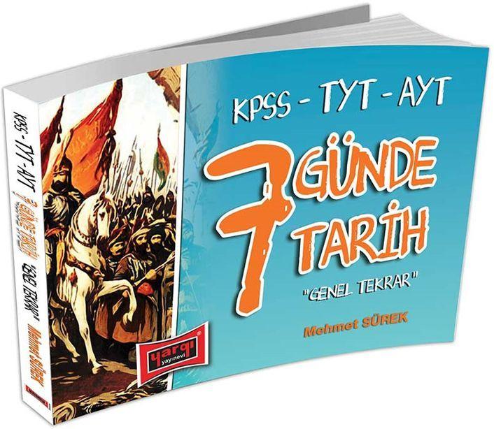 Yargı Yayınları KPSS TYT AYT 7 Günde Tarih Genel Tekrar