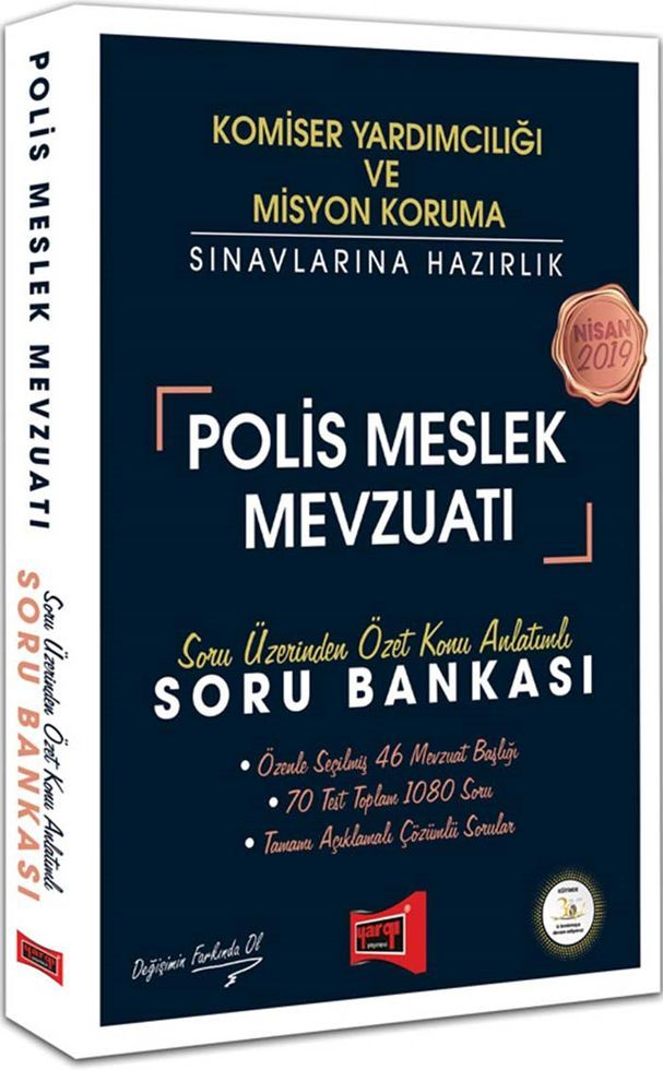 Yargı Yayınları 2019 Komiser Yardımcılığı ve Misyon Koruma Sınavlarına Hazırlık Polis Meslek Mevzuatı Soru Bankası