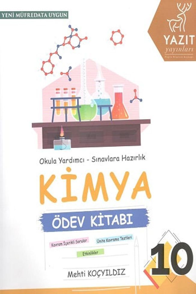 Yazıt Yayınları 10. Sınıf Kimya Ödev Kitabı