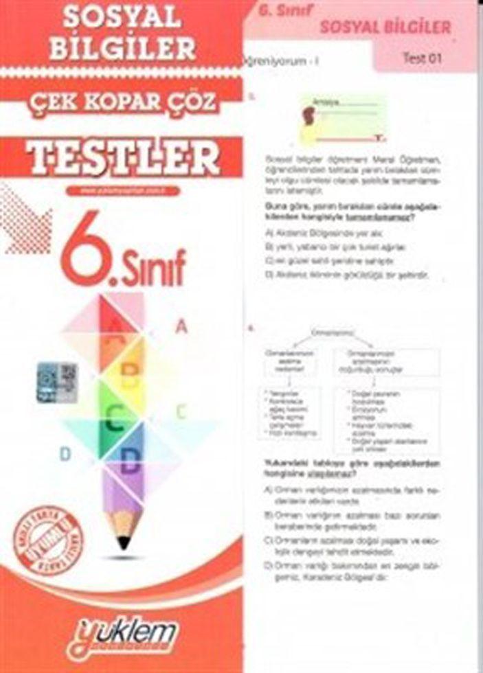 Yüklem Yayınları 6. Sınıf Sosyal Bilgiler Çek Kopar Çöz Testler