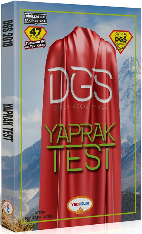 Yediiklim 2018 DGS Sayısal Sözel Bölüm Çek Kopart Yaprak Test