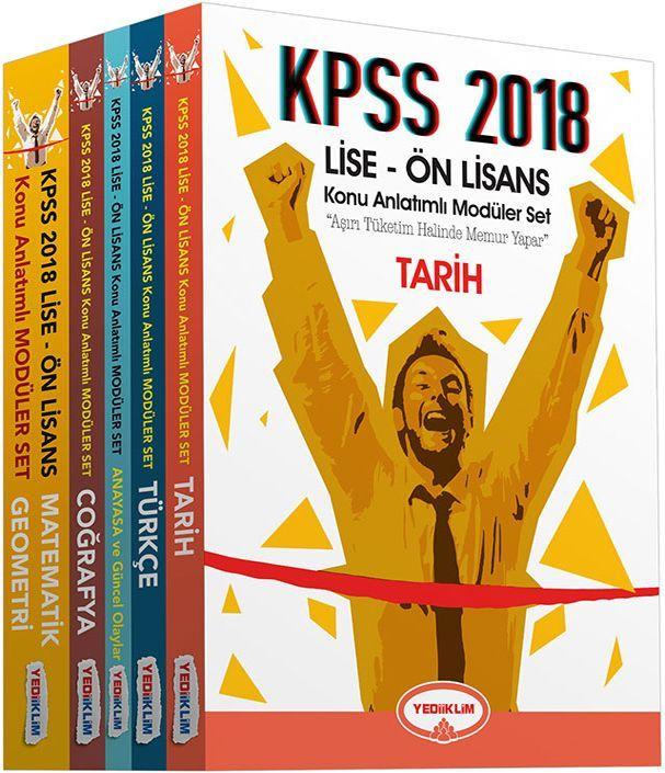 Yediiklim 2018 KPSS Lise Ön Lisans Konu Anlatımlı Modüler Set 5 Kitap