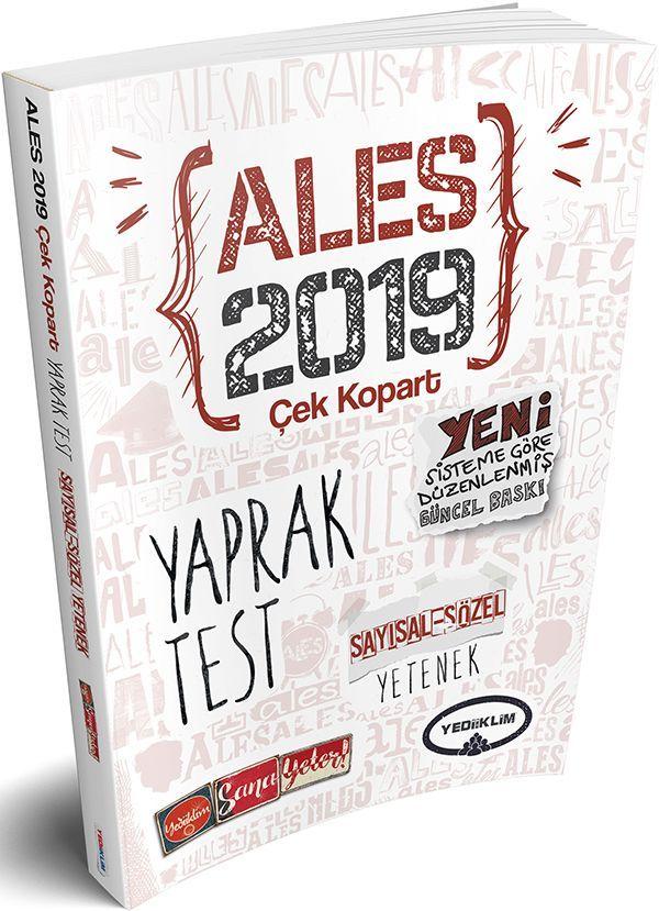 Yediiklim 2019 ALES Sayısal Yetenek Sözel Yetenek Çek Kopart Yaprak Test