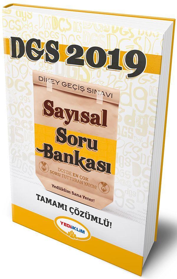 Yediiklim 2019 DGS Sayısal Bölüm Tamamı Çözümlü Soru Bankası