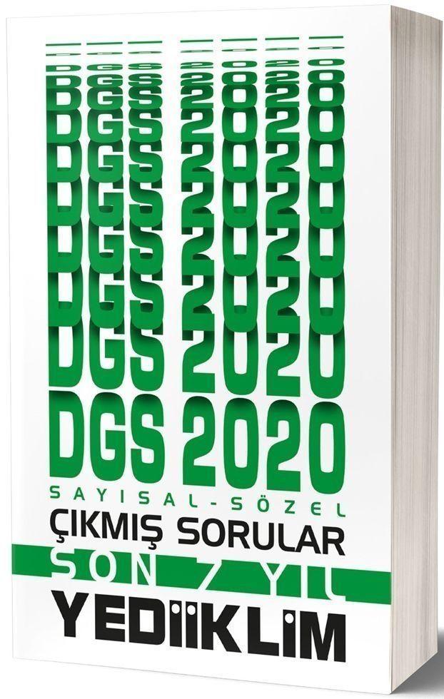 Yediiklim Yayınları 2020 DGS Sayısal Sözel Son 7 Yıl Çıkmış Sorular