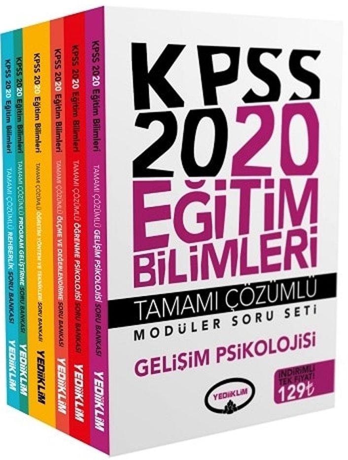 Yediiklim Yayınları 2020 KPSS Eğitim Bilimleri Tamamı Çözümlü Modüler Soru Bankası Seti