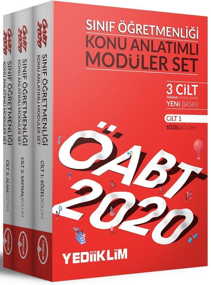 Yediiklim Yayınları 2020 ÖABT Sınıf Öğretmenliği Konu Anlatımlı Modüler Set
