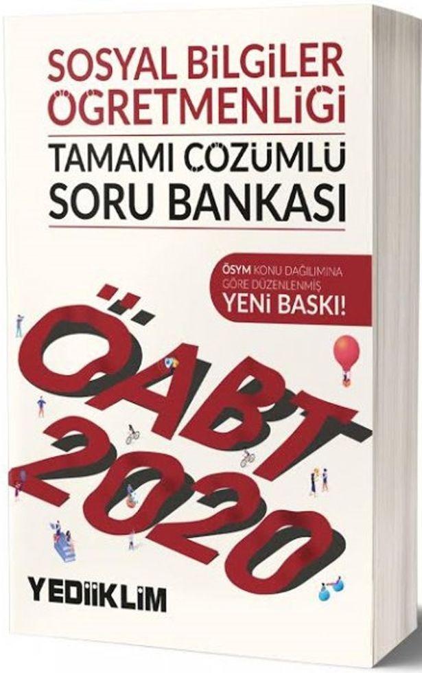 Yediiklim Yayınları 2020 ÖABT Sosyal Bilgiler Öğretmenliği Tamamı Çözümlü Soru Bankası