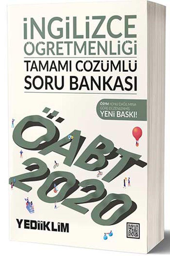 Yediiklim Yayınları 2020 ÖABT İngilizce Öğretmenliği Tamamı Çözümlü Soru Bankası