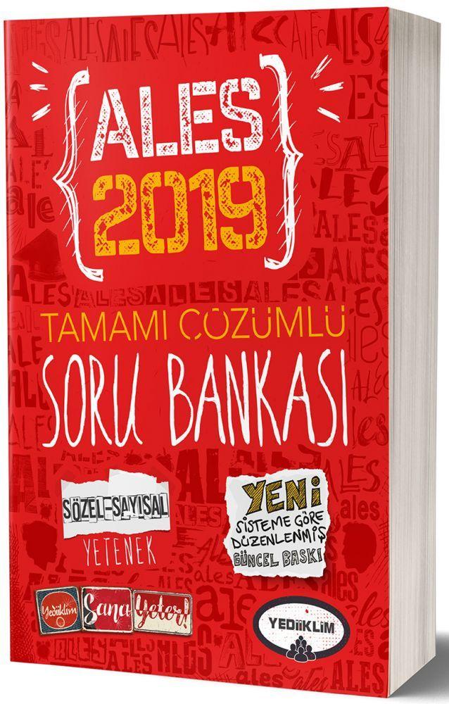 Yediiklim Yayınları 2019 ALES Sözel Sayısal Yetenek Tamamı Çözümlü Soru Bankası
