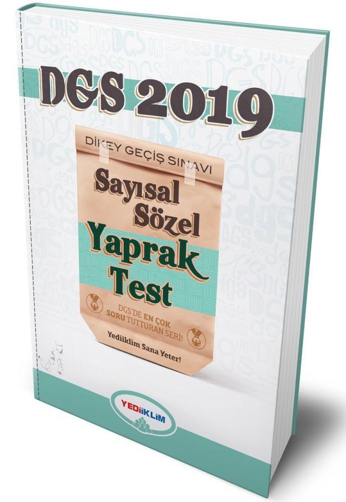 Yediiklim Yayınları 2019 DGS Sayısal Sözel Çek Kopart Yaprak Test