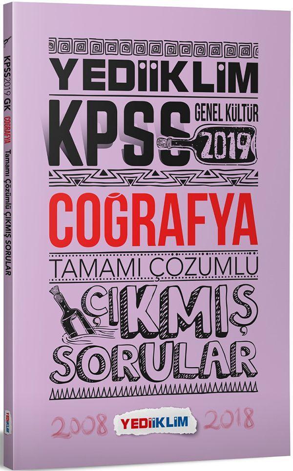 Yediiklim Yayınları 2019 KPSS Genel Kültür Coğrafya Tamamı Çözümlü Çıkmış Sorular