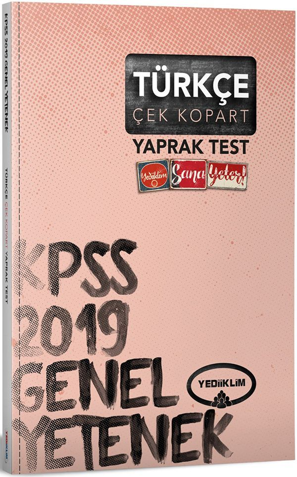 Yediiklim Yayınları 2019 KPSS Genel Yetenek Türkçe Çek Kopart Yaprak Test