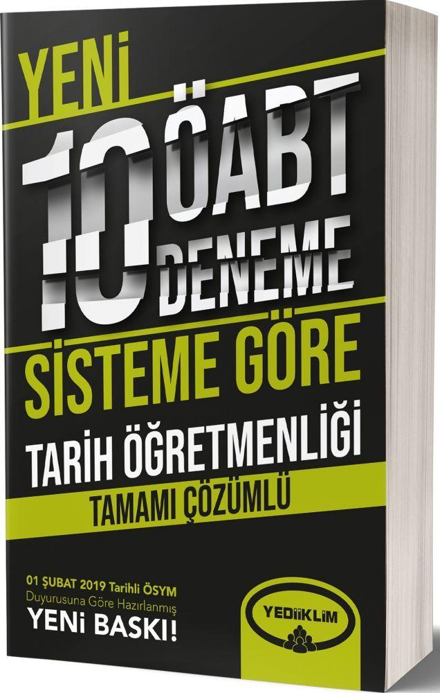 Yediiklim Yayınları ÖABT Tarih Öğretmenliği Tamamı Çözümlü 10 Deneme