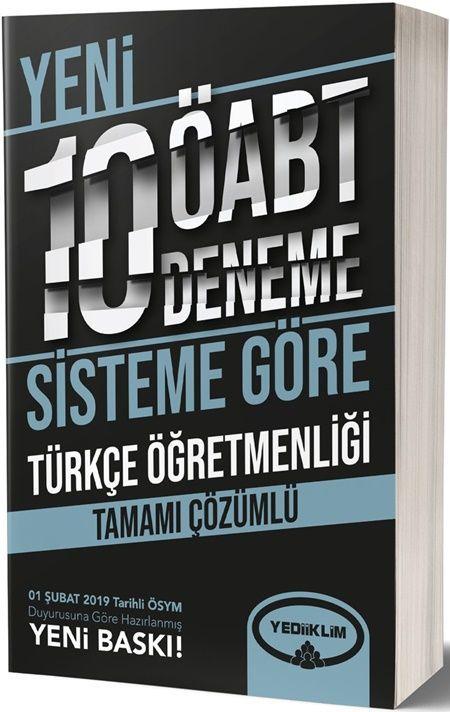 Yediiklim Yayınları ÖABT Türkçe Öğretmenliği Tamamı Çözümlü 10 Deneme