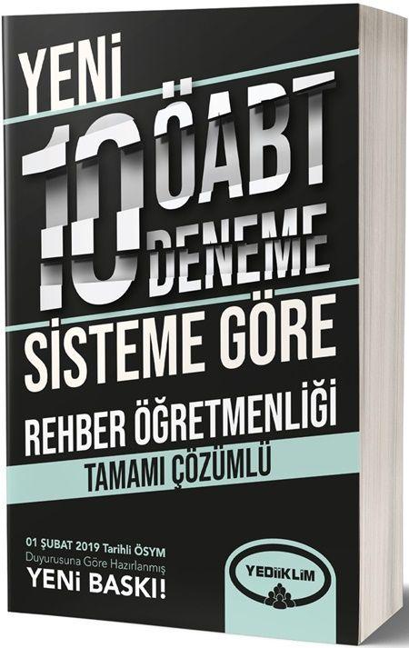 Yediiklim Yayınları ÖABT Rehber Öğretmenliği Tamamı Çözümlü 10 Deneme
