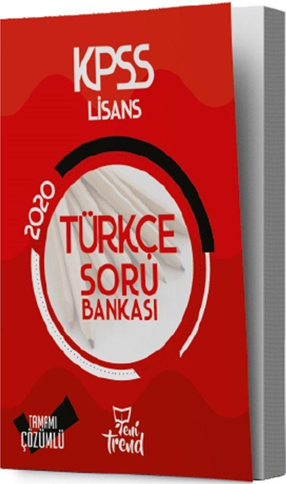 Yeni Trend Yayınları 2020 KPSS Türkçe Soru Bankası