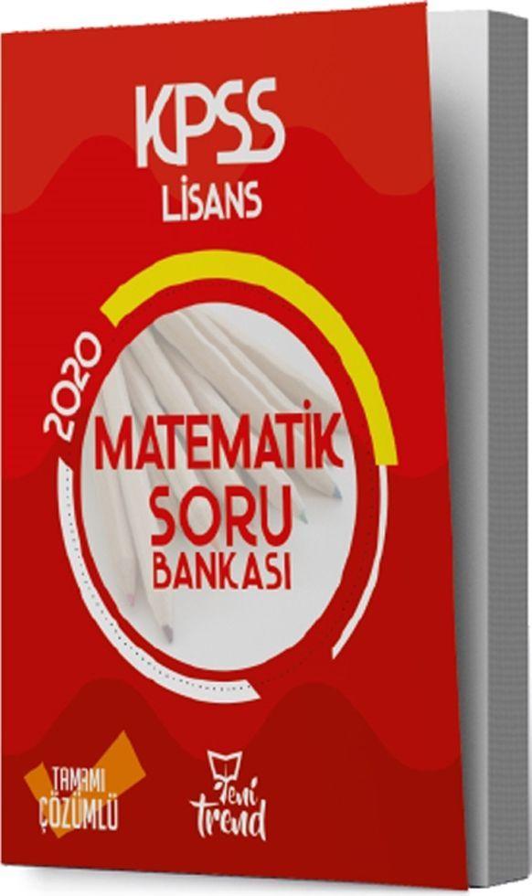 Yeni Trend Yayınları 2020 KPSS Matematik Soru Bankası