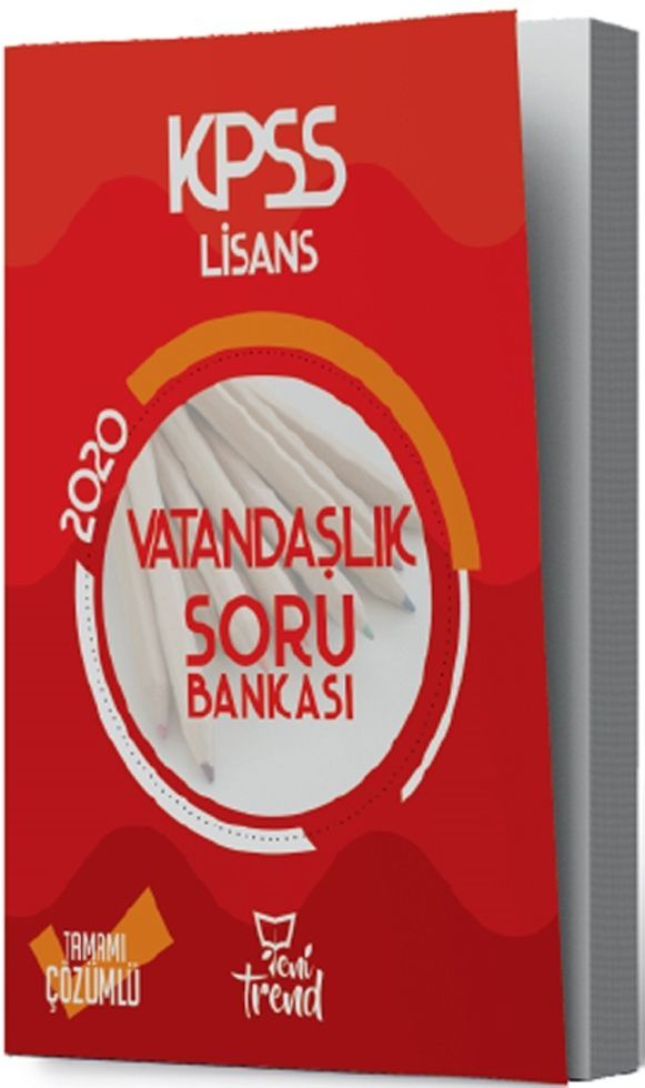 Yeni Trend Yayınları 2020 KPSS Vatandaşlık Soru Bankası