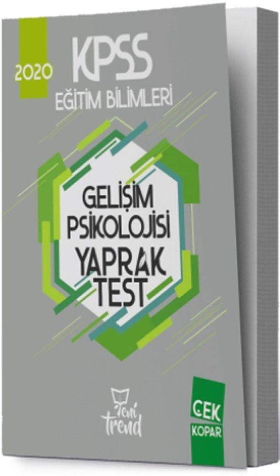 Yeni Trend Yayınları 2020 KPSS Eğitim Bilimleri Gelişim Psikolojisi Yaprak Test
